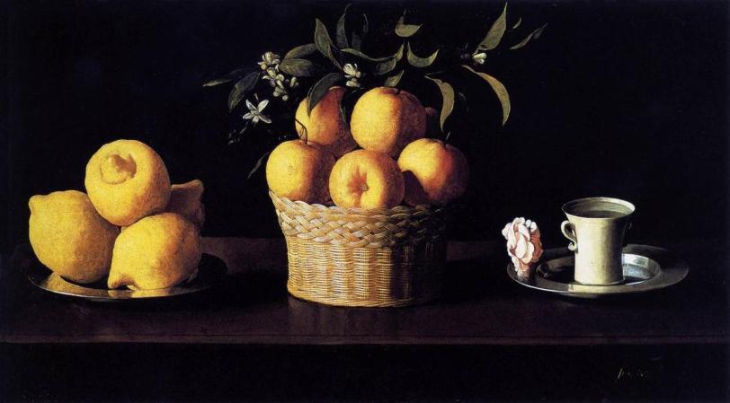 Francisco-Zurbaran-Still-Life-with-Lemons-Oranges-and-Rose